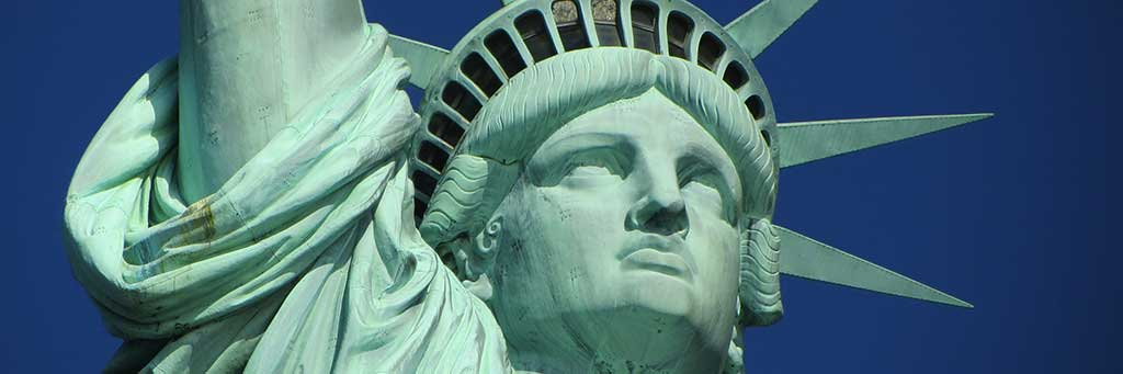 Stock image of The Statue of Liberty.